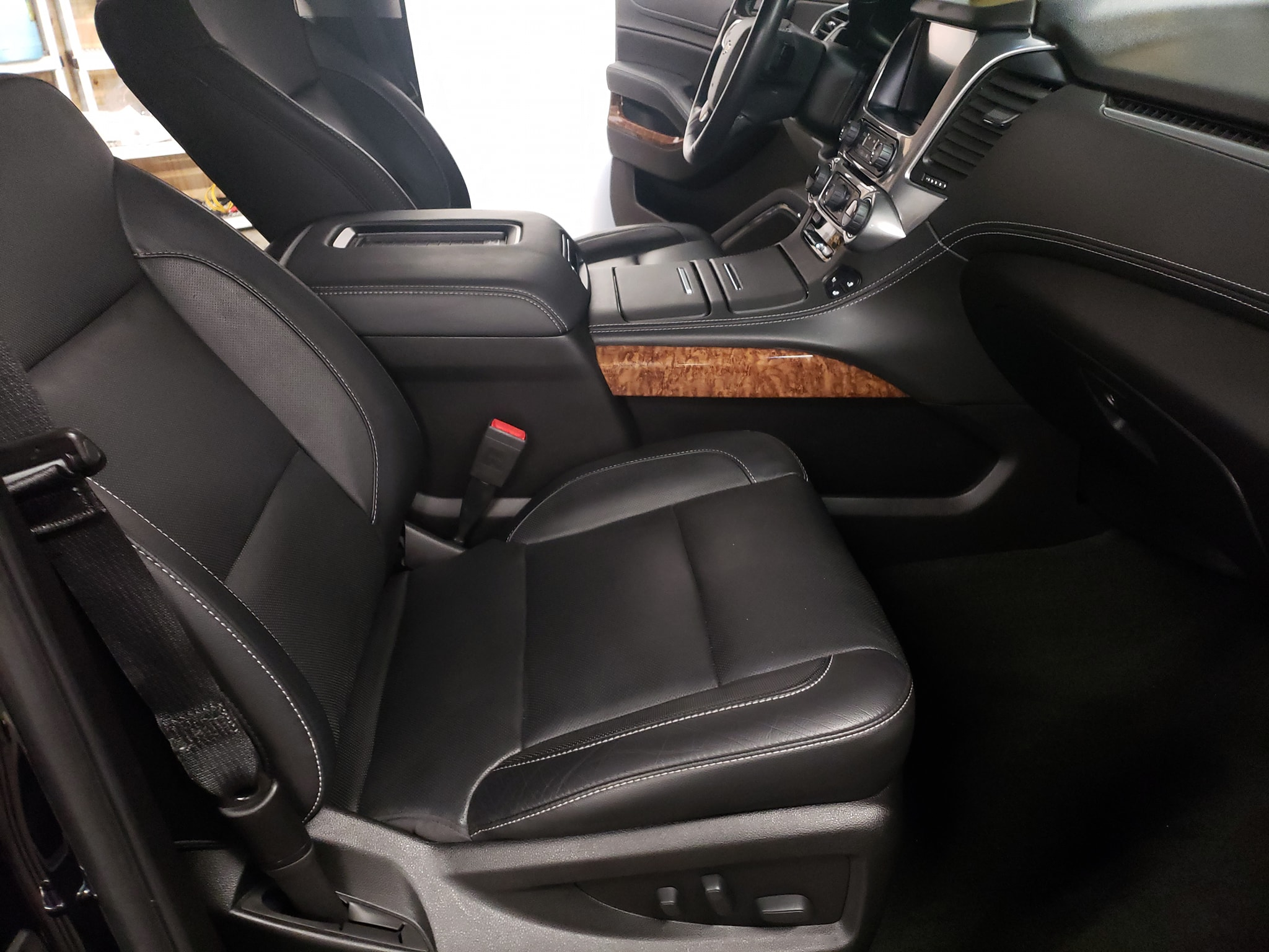 photo of car interior passenger side